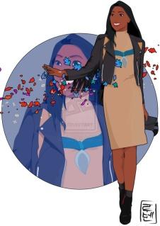 Pocahontas,  , Diney étudiant, Princesse Disney, Hyoung, Illustrateur, Espagnol