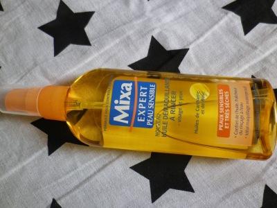 huile démaquillante mixa, nettoyant pinceaux
