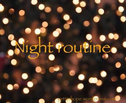 nuit, soirée, routine, rituel, soirs, cocoonig