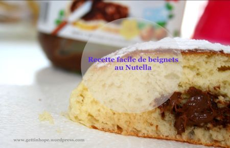 Recette, nutella, beignets, homemade