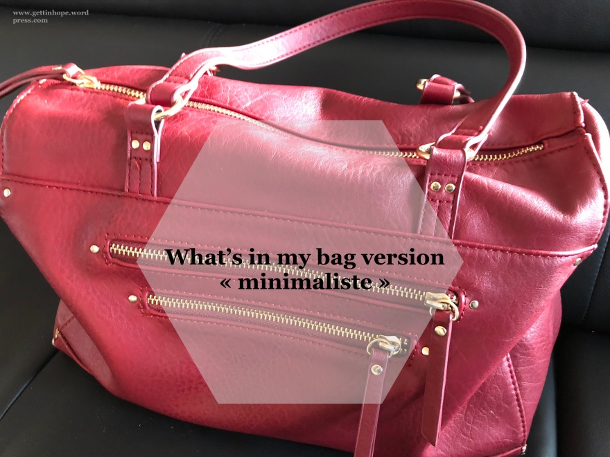 dans mon sac, petit sac, contenu sac à main, quoi emmener
